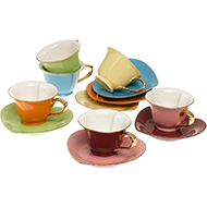 Yedi Housware Cassic Inside Out Cups & Saucers